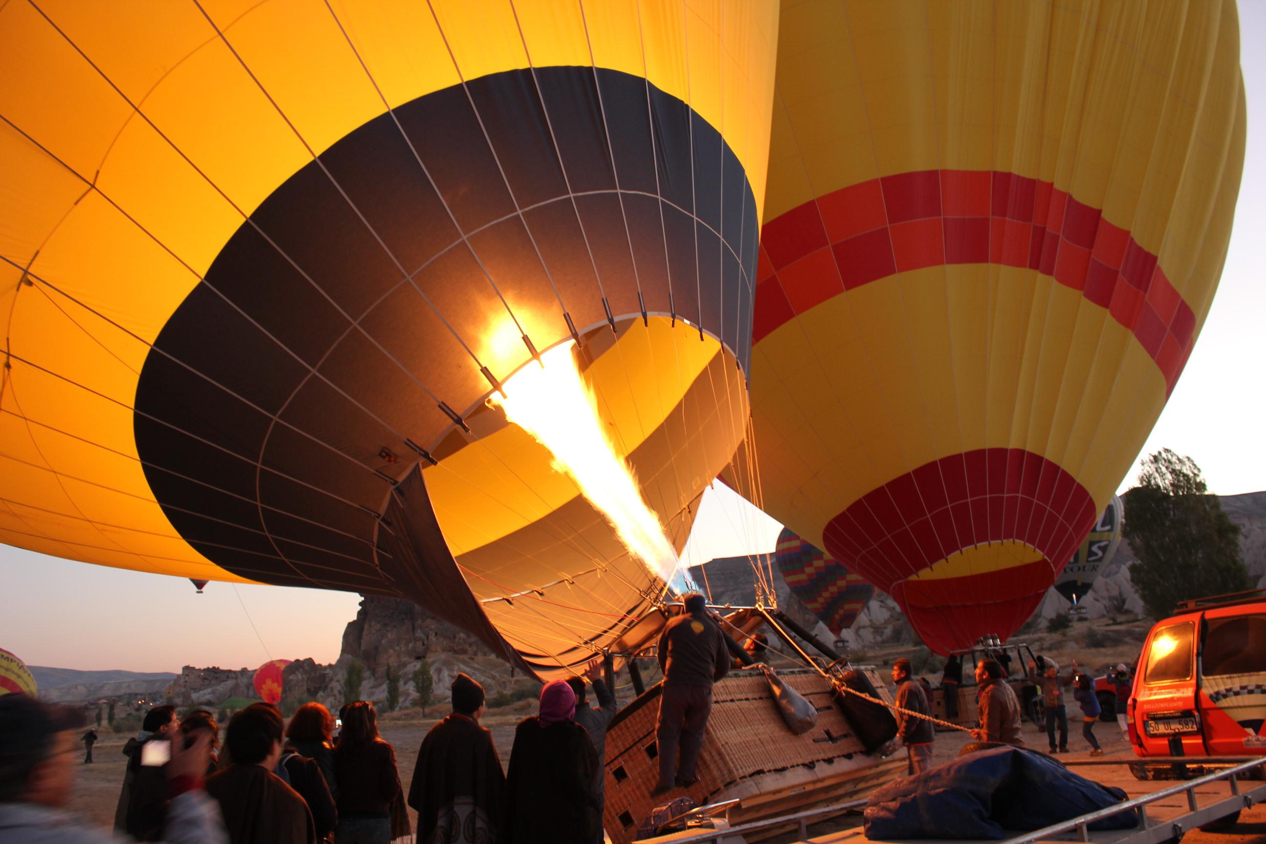 A hot air balloon ride in Cappadocia  bilbyandbear